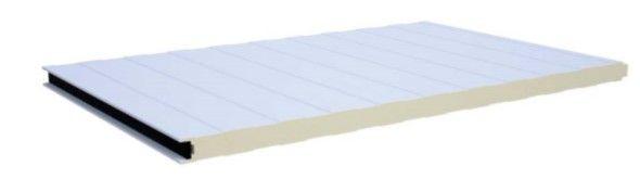 Painel Sandwich de fachada Fixação a vista e oculta desde 10,50€ Canelas - imagem 1