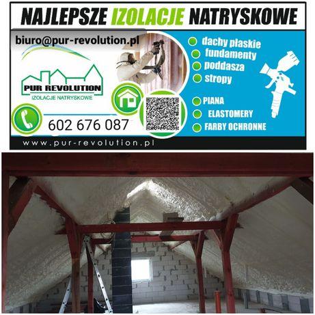 Izolacje Natryskowe pianą,stropy, Ocieplanie piana pur dachy