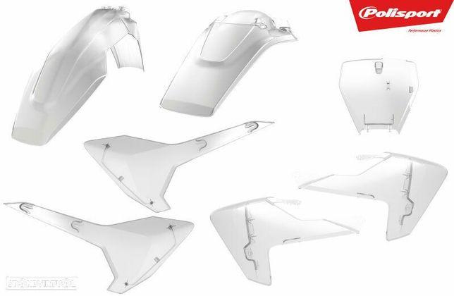 kit plasticos polisport transparente husqvarna fc 250 / 350 / 450