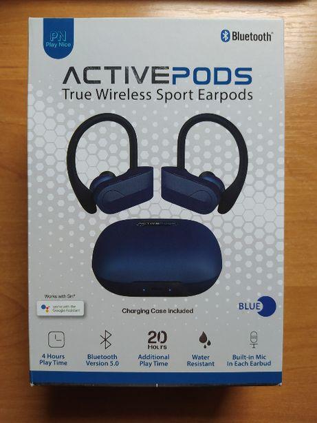 Продам беспроводные наушники Active Pods с дужкой для уха