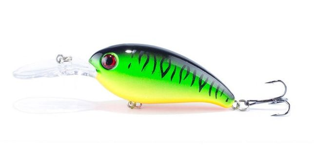 Wobler Przynęta Zielony 10 cm, 14 g, Karp, Szczupak Wędkarstwo