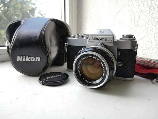 Фотокамера Nikkormat EL + Nikon Nikkor-S 50mm f/ 1.4