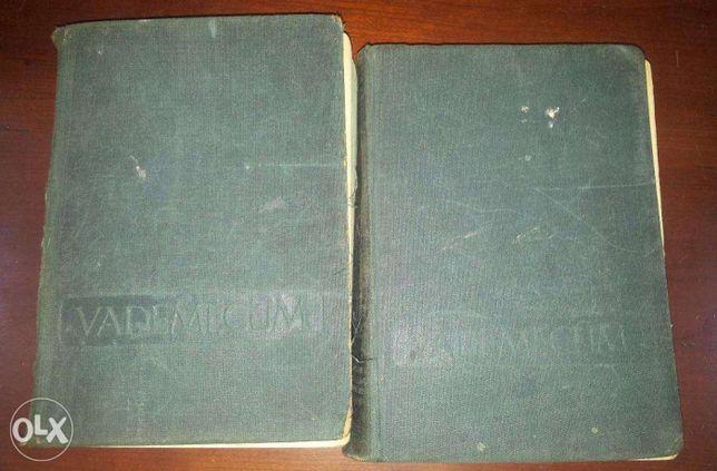 Vademecum Lekarskie 2 tomy wydanie z 1955 roku