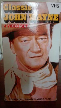 Filmy VHS John Wayne.