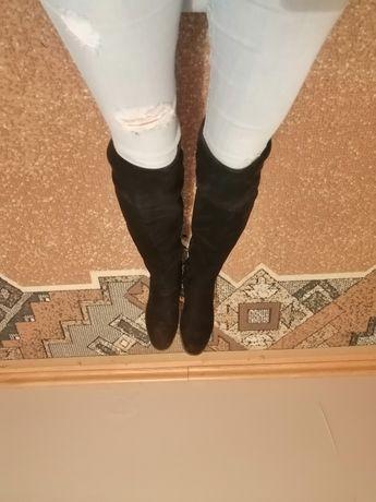 Buty za kolano zamszowe rozmiar 36
