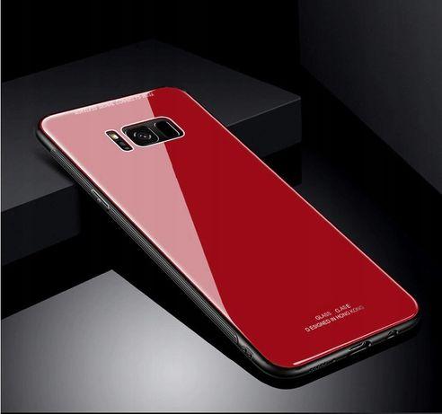 Samsung Galaxy S8 Etui Szklane CASE FUTERAŁ CZERWONE !!! Szkło!!!