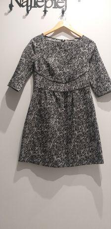 Sukienka w centki czarno-białe firmy Orsay rozmiar 38