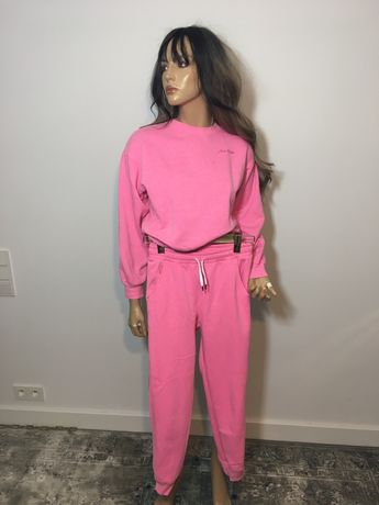 Dres bawelniany XS rozowy barbie bawelna bluza spodnie