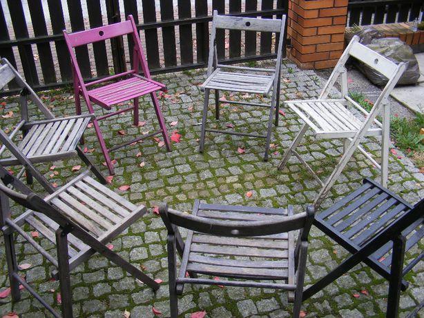 Składane, bukowe krzesła