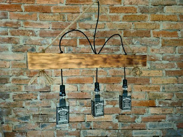 Lampa, kinkiet loft, retro, Jack Daniels