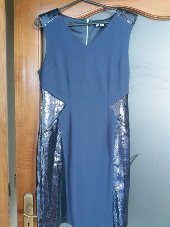 Vestido azul tamanho S NOVO