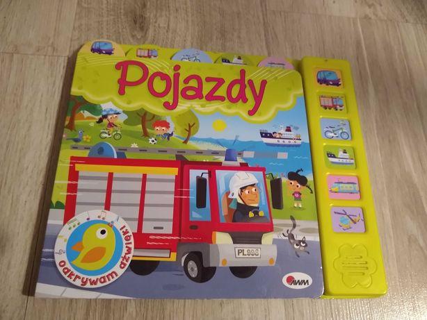 Książeczka dla dzieci z dźwiękami pojazdów