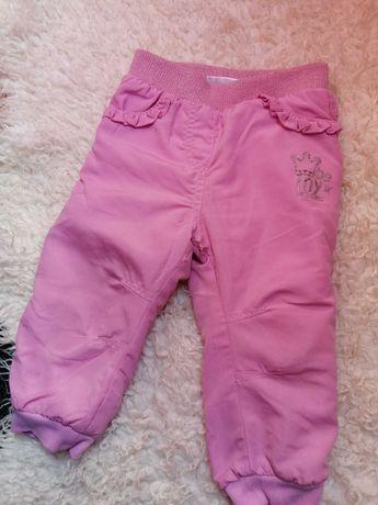 Ciepłe spodnie 86