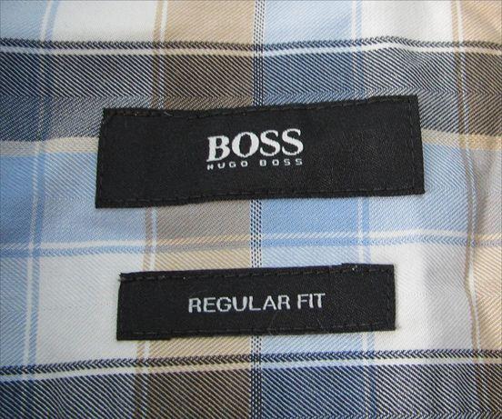 Hugo Boss рубашка в клетку Оригинал размер S Regular Fit
