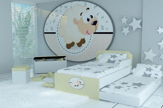 Piętrowe łóżko dla dzieci, łóżko dziecięce z motywem owieczki