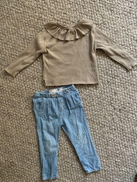 Sweter spodnie wysylka 1zl Zara 3-4 latka 104 kołnierz j Konges Sloejd
