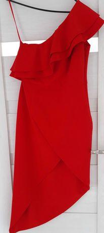 Sukienka hiszpanka asymetryczna na jedno ramię rozm.38 NOWA