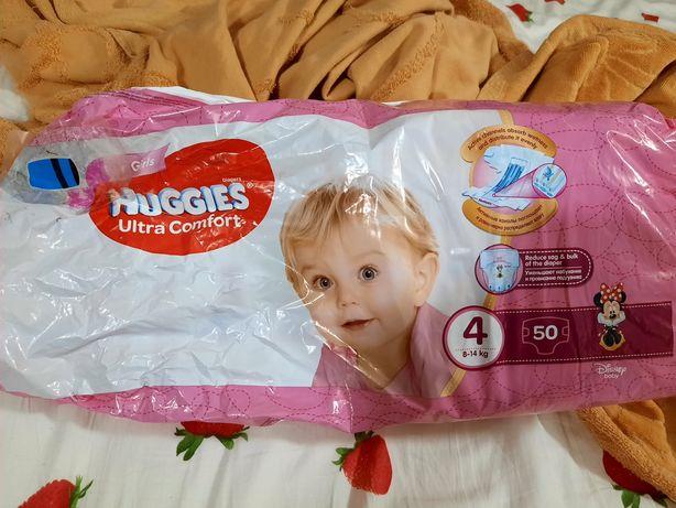 Продам памперсы Huggies 4 для девочки