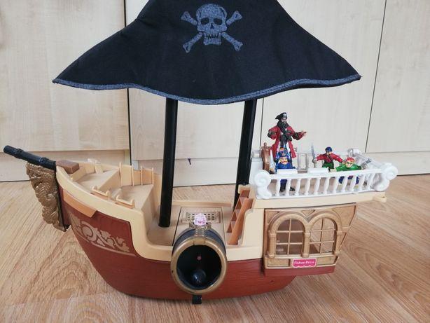 Duży statek piracki, kapitan, piraci FISCHER PRICE