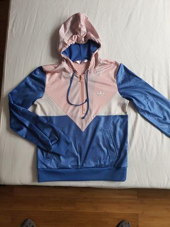 Bluza damska kangurka Adidas Orginals pastelowa S młodzieżowa L