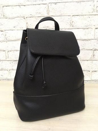 Черный Рюкзак с эко-кожи