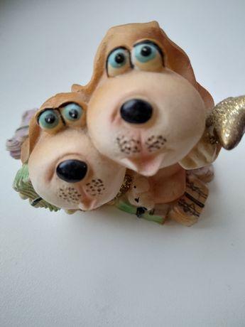 Собачки из керамики