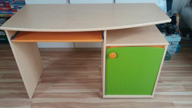 Biurko dziecięce 117x53cm,wys.75, wysuwana półka na klawiaturę, szafka