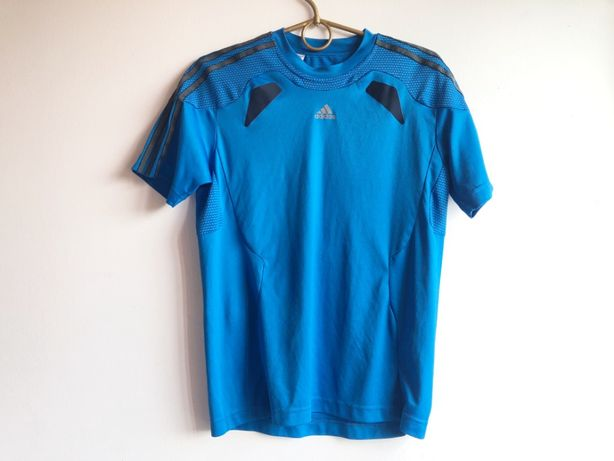 bluzka sportowa koszulka adidas M L 40 38 niebieska sport siłownia