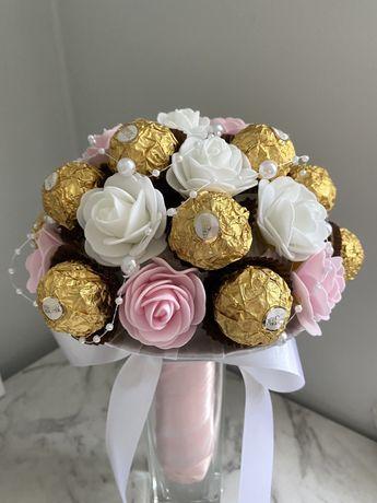 Słodki bukiet z cukierków na komunię, urodziny, chrzest, ślub