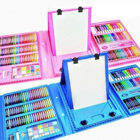 Набор для рисования с мольбертом / Розовый / 208 предметов!