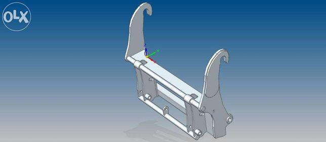 adapter, przejściówka JCB Q-FIT_SMS (biedaszki) ładowarka JCB