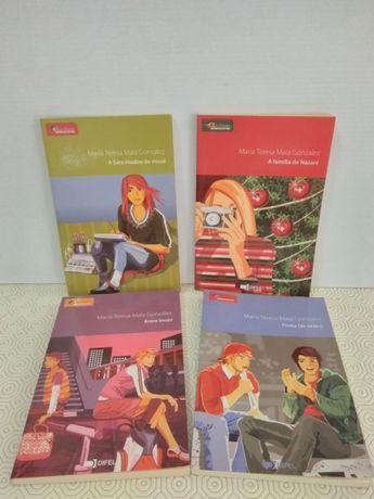 4 livros da coleção Profissão Adolescente