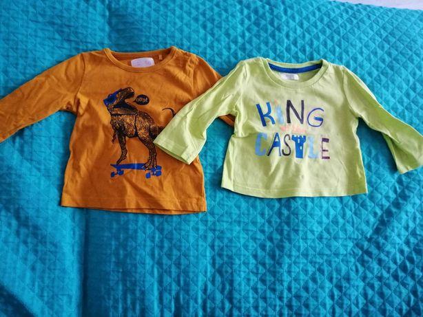 Bluzeczki dla chłopca rozmiar 68