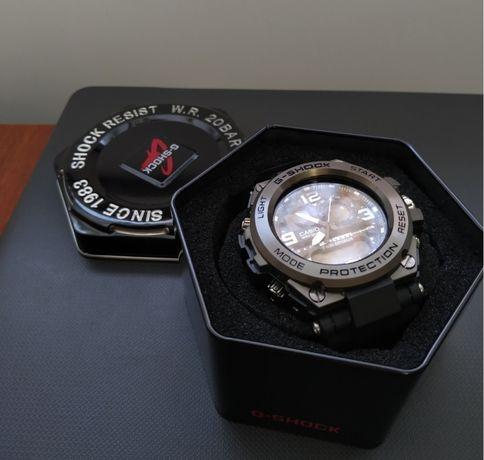 Мужские часы со стальным корпусом (два механизма) casio glg-1000