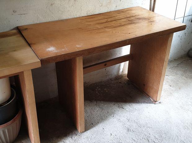 Stół biurko warsztatowe 2 sztuki solidne