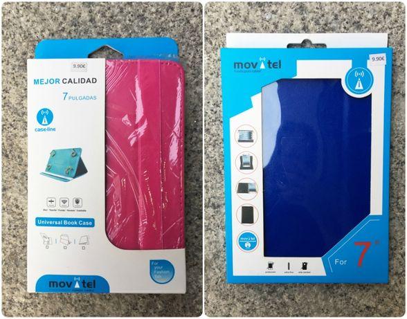 """Capa Universal para Tablet de 7"""" - Rosa / Azul - NOVOS"""