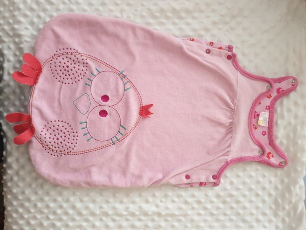 Różowy spiworek niemowlecy