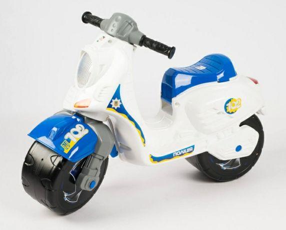 Каталка-толокар Скутер Полиция ORION 502-W Белый
