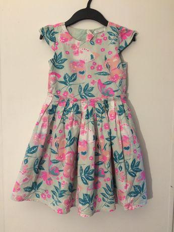 sukienka w kwiatki 128 cm wyprzedaż szafy