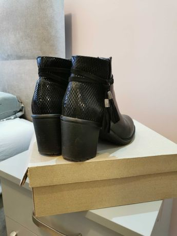 Buty botki czarne 36