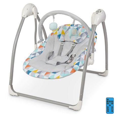 НОВОЕ Детское кресло - качели шезлонг укачивающий центр на р/у