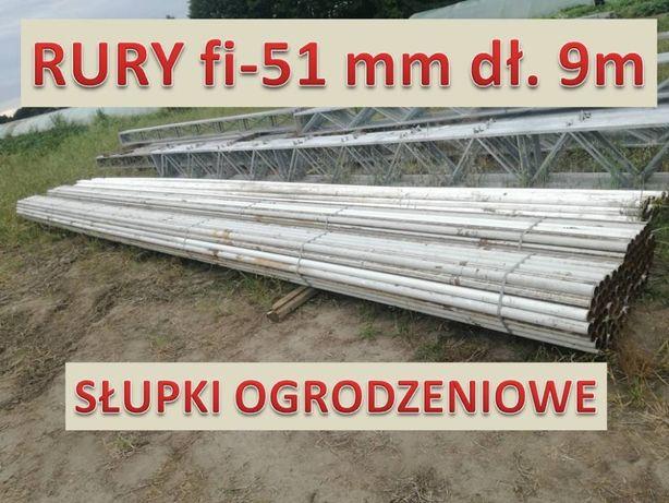 Rury 51 mm dł 9m słupki ogrodzeniowe siatka wiata płot zagroda słupek