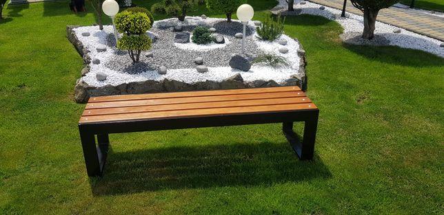 Industrialna ławka ogrodowa