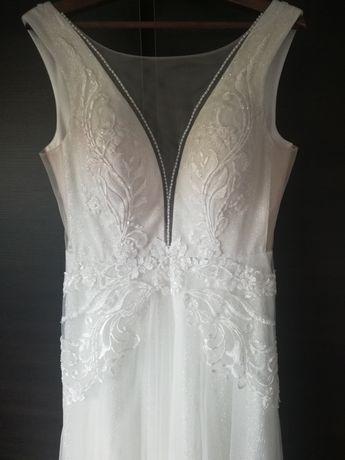 Suknia ślubna Księżniczka, rozmiar 44-46, ivory, Carla-A