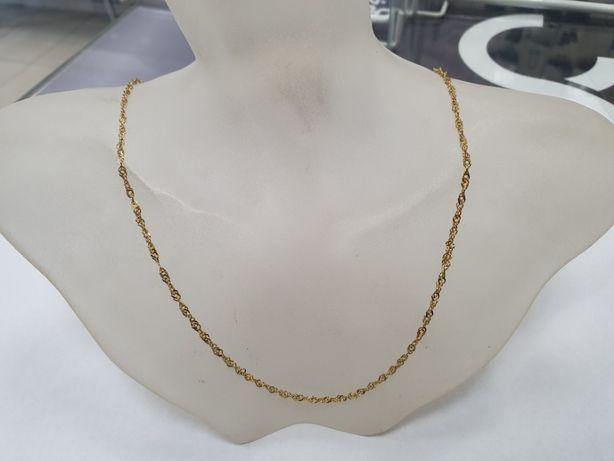 Piękny złoty łańcuszek damski / męski/ 585/ 2.3 gram/ 45cm/ sklep