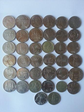 Монеты СССР 1, 3, 5 рублей (1964-1991 года)