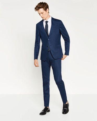 Zara man basic трендовый качественный элегантный мужской костюм
