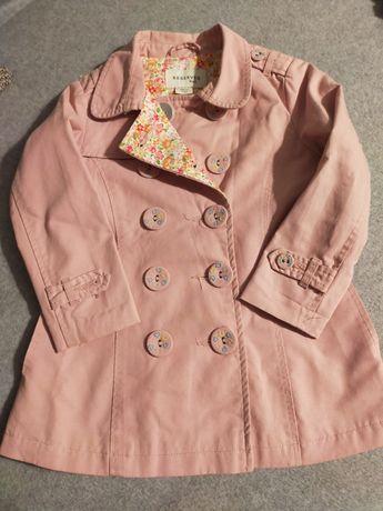 Wiosenny płaszczyk dla dziewczynki 98