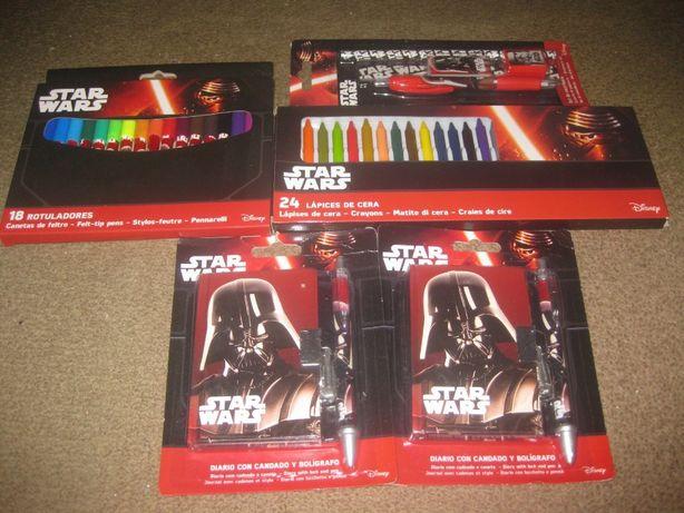 """Pack Escolar """"Star Wars"""" Novo e Embalado!"""