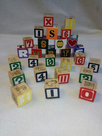 Деревянные кубики 27 штук за все 100грн